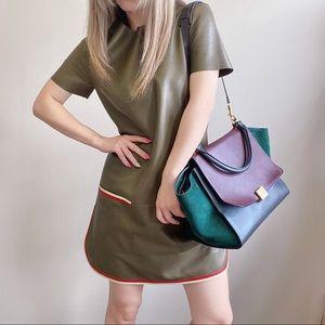 CELINE lambskin leather dress